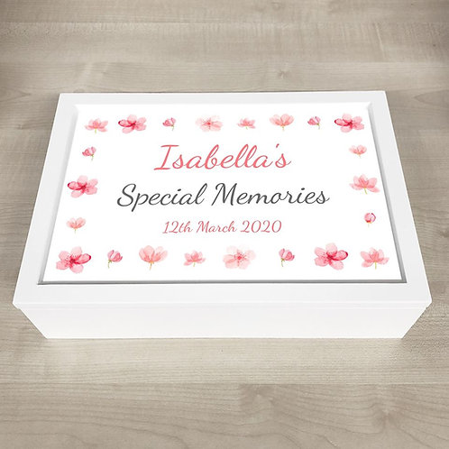 Special Moments Memory Box (Girl) - Text Only