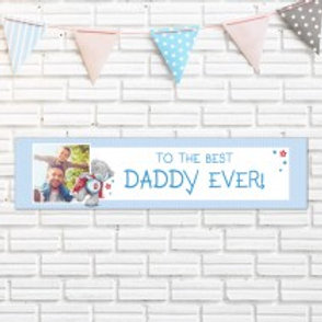 Super Dad Banner - Text & Photo