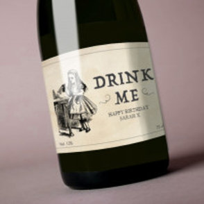 Drink Me - Bottle / Candle Label - Name