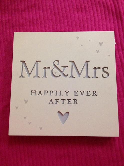 Mr & Mrs Light up Box