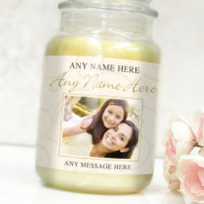 Gold Bottle / Candle Label -  Photo & Text