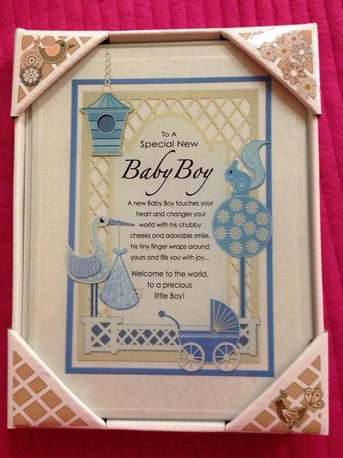 Baby Boy - Garden Glass Plaque
