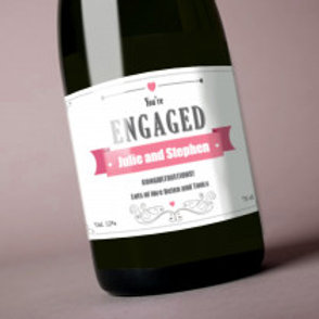 Engagement - Bottle / Candle Label - Name