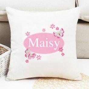 Butterfly - Velvet Cushion - Name