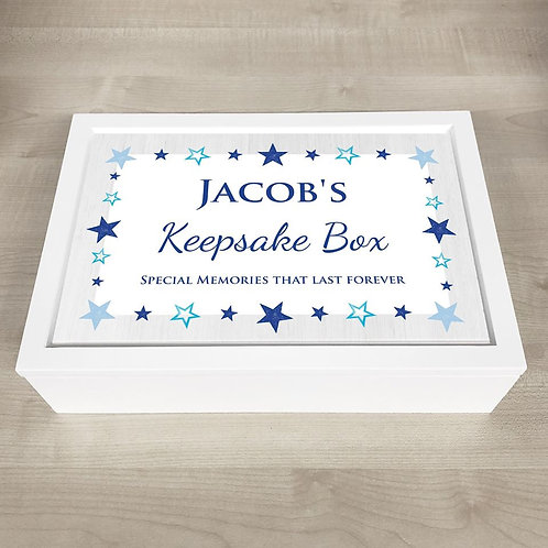 Special Moments Memory Box (Boy) - Text Only