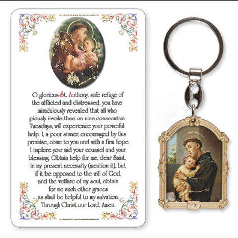 St. Anthony - Keyring and Card