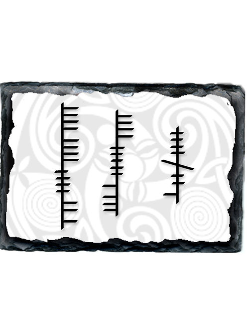 Large Slate with Ogham House Blessing