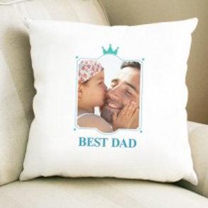 Best Dad - Velvet Cushion - Photo Only
