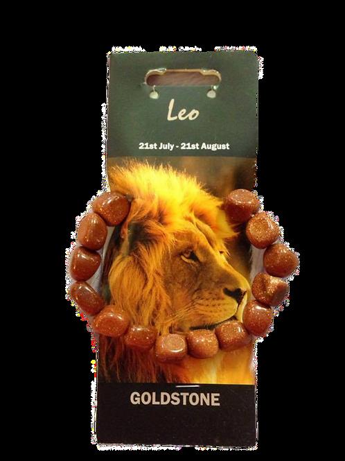 Goldstone Bracelet - Leo Zodiac Sign