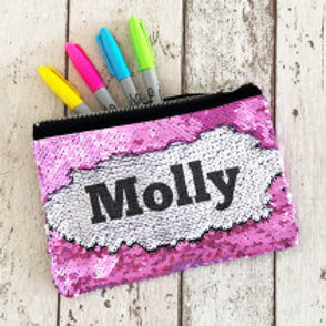 Sequin Pencil Case  - Name Only