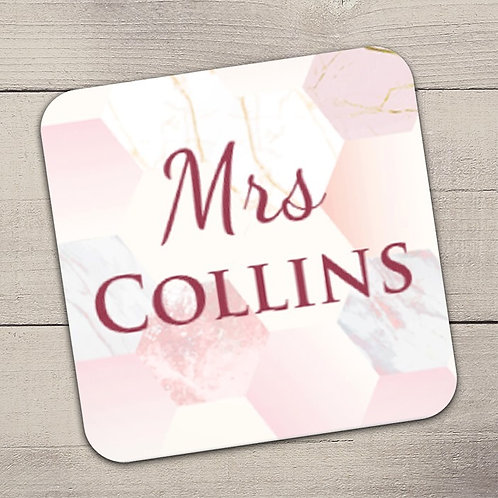 Mrs Coaster (Pink) -  Name Only