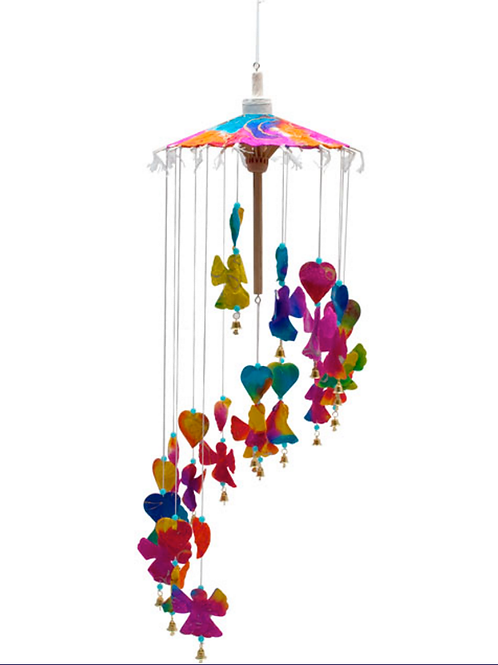 Recycled saa multi-colour angel mobile