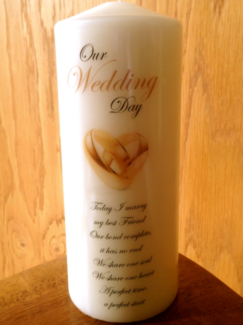 Wedding Candle with rings style 1 - generic