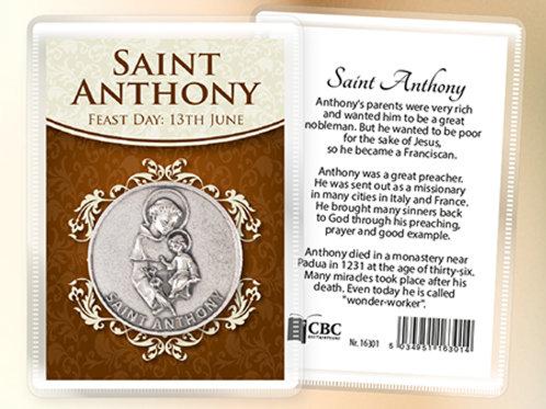 Saint Anthony - Prayer Coin & Leaflet