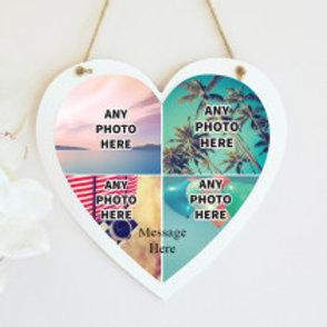Hanging Heart - Four Photos