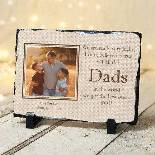 Dads -  Photo Slate - Photo & Text
