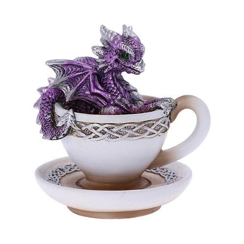 Purple Dracuccino Figurine