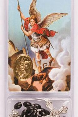 Saint Michael - Rosary & Prayer Card