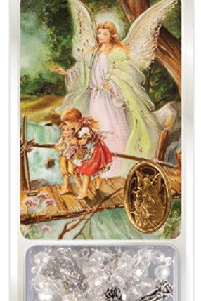 Guardian Angel - Rosary & Prayer Card
