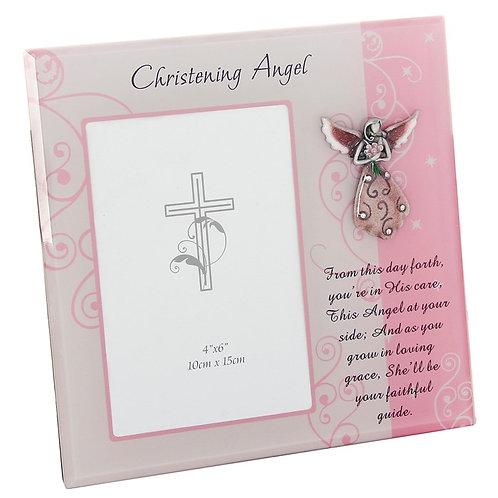 Christening Angel Frame - Girl