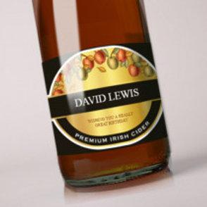 Cider - Bottle / Candle Label - Name