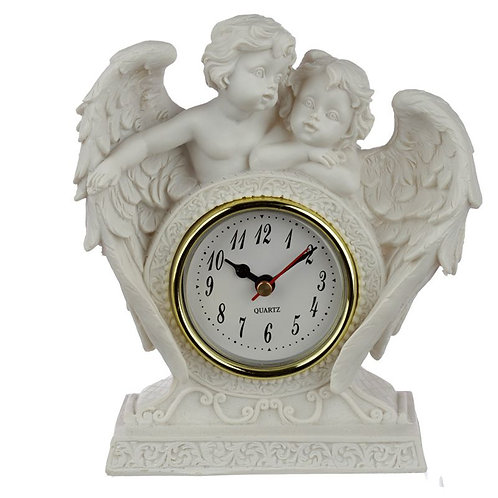 Peace of Heaven Endless Love Cherub Mantle Clock