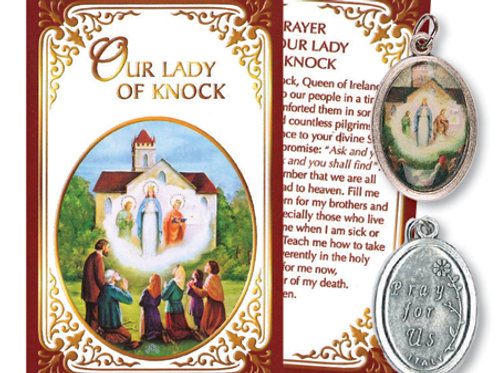Our Lady of Knock - Relic Medal & Prayer