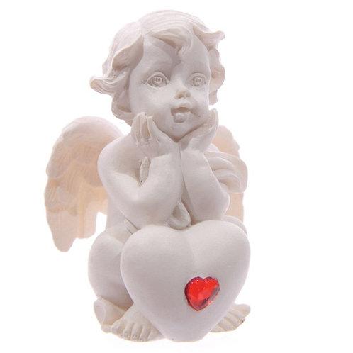 Cherub - Hands on Chin holding Heart