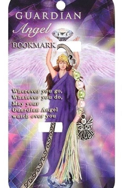 Guardian Angel - Metal Bookmark - Lime Green & Light Pink