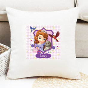 Sofia The First - Velvet Cushion - Names Only