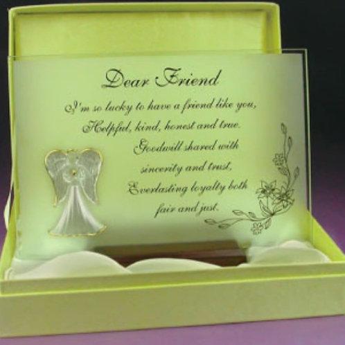 Dear Friend - Glass Plaque