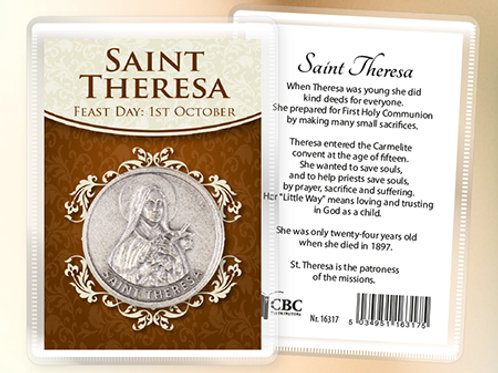 Saint Theresa - Prayer Coin & Leaflet