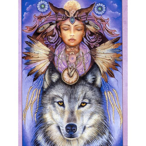 Wolf Spirit Card - Inspirational Message