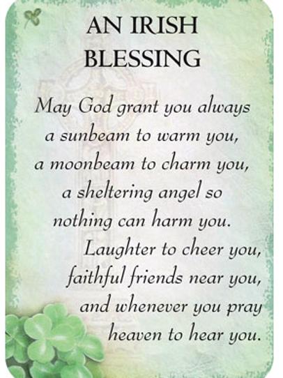 irish blessing Mini Card