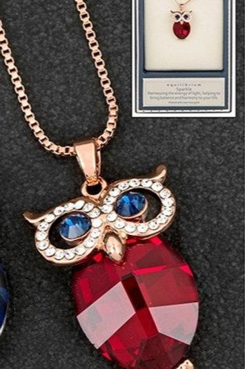 Rose Gold Owl Necklace