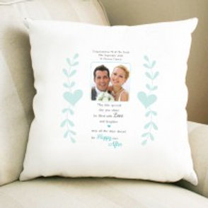 Happy Ever After - Velvet Cushion - Photo & Text