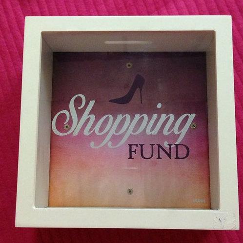 Shopping Fund - Wood Money Box