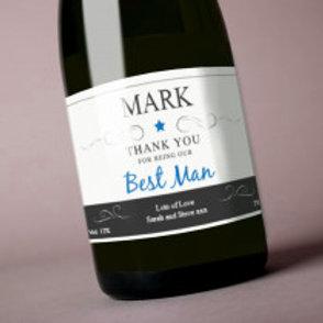 Best Man - Bottle / Candle Label - Name