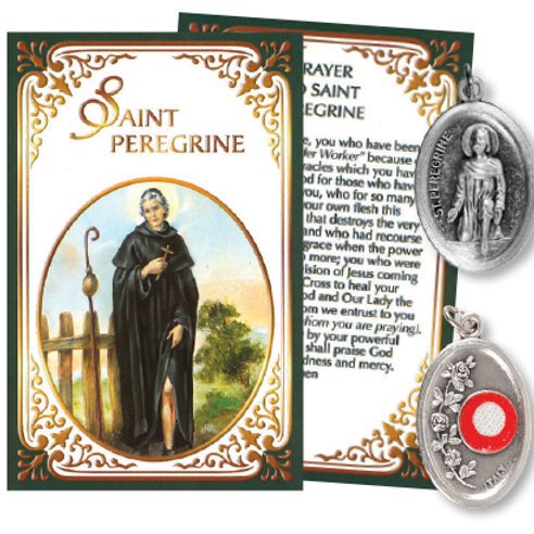 Saint Peregrine - Relic Medal & Prayer