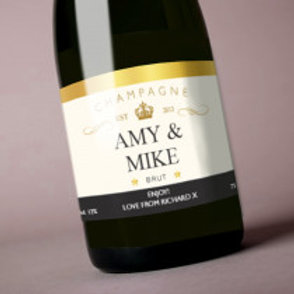 Champagne - Bottle / Candle Label - Name