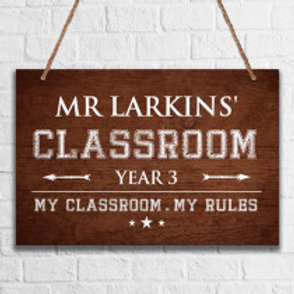 Classroom - Metal Hanging Sign - Name Only