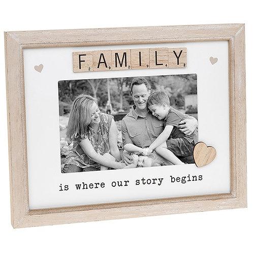 Family - Scrabble Sentiments Frame