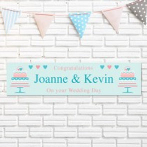 Wedding Cake Banner - Names Only