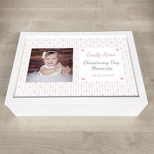 Christening Memory Box - Girl