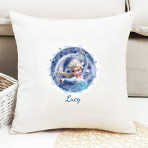Elsa (Frozen) - Velvet Cushion - Name Only