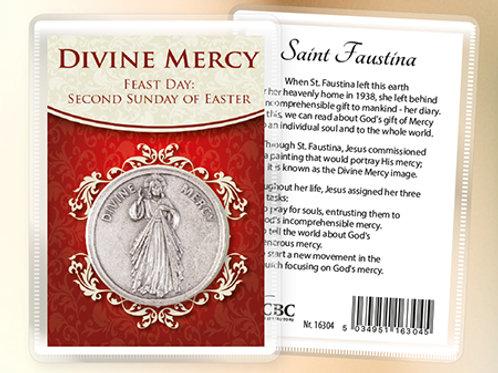 Divine Mercy - Prayer Coin & Leaflet