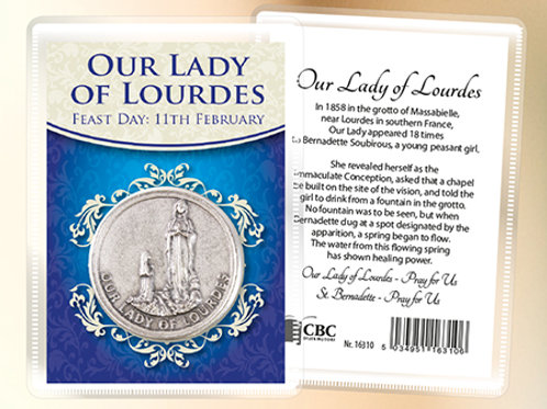 Our Lady of Lourdes - Prayer Coin & Leaflet