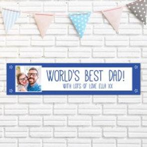 World's Best Dad Banner - Photo & Text