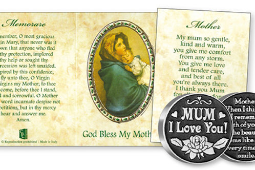 God Bless My Mother - Prayer Coin & Booklet