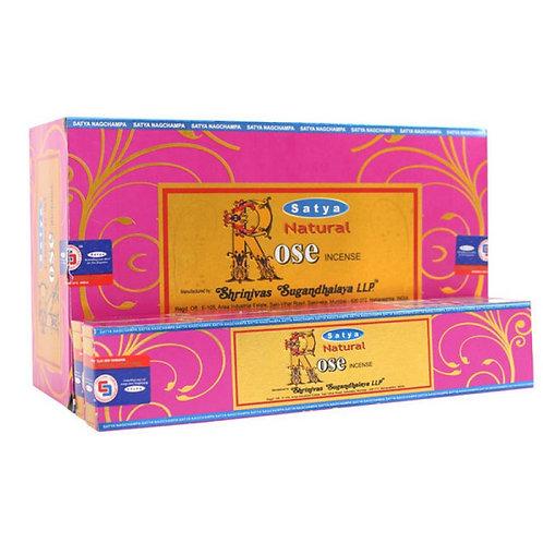 Natural Rose - Satya Incense Sticks